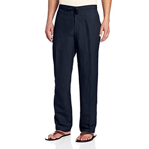 Aoogo Herren Drawstring Hose mit elastischem Bund auf der Rückseite Laufhose Trainingshose lose Casual Fashion