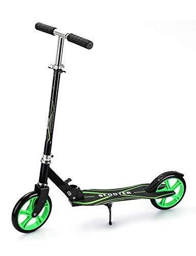 YF-Mirror Pro City Scooter, Scooter de Calle Plegable, Mango Ajustable en Altura, 2 Ruedas Grandes, Patinete para Adultos y niños, Capacidad de 100 kg