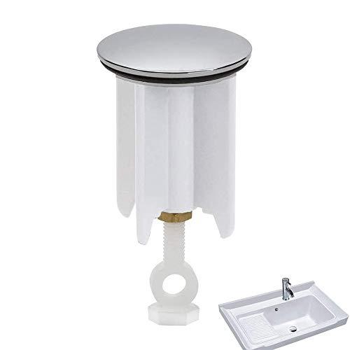 Tang Yuan Tappo di Scarico di Alta qualità,Tappo per lavandino,Tappo per lavandino Universale,Tappo per lavabo Regolabile-Tappo da Bagno ⌀40mm (l'altezza è Regolabile tra 6,5 cm-9 cm)