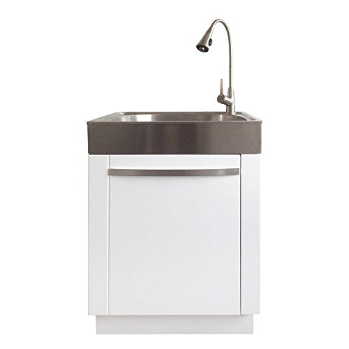 Presenza All-in-One 26 in. x 23 in. x 31 in. Stainless Steel Laundry/Utility Sink and Cabinet
