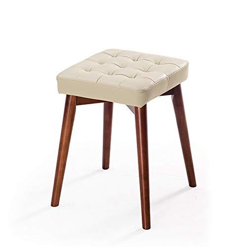 Stackable massief hout krukken, creatieve dressing krukken, eettafel krukken, hoge veerkracht matten, ruimtebesparend, mooi en licht