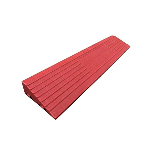 Xzg1-Rampe Home Rollstuhlrampsen, Mehrfarbige Innenschwellenrampsen rutschfeste Step Uphill Pad Multifunktions-Servicerampsen(Color:rot,Size:40 * 8 * 3CM)