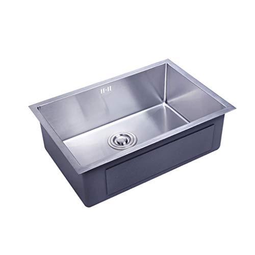 Küchenspülen 304 Edelstahl sinken einzigen trog manuelle waschbecken einzigen waschbecken küche unter aufsatzbecken verdickung Haushalt große waschbecken 0513