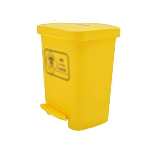 Outdoor trash can CSQ- Poubelle en Plastique, Type à Pédale Bac De Nettoyage des Ordures De Grande Capacité Bac De Recyclage des Ordures D'hôtel De Restaurant D'appartement(Size:40L,Color:Jaune)