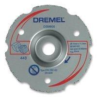 Dremel DSM600 Mehrzweck-Gerad Karbid Trennscheibe, Zubehör für Multifunktionswerkzeug, Trennscheibe 20 mm zum Bündigschneiden von Vinyl Kunststoff, Holz und Laminat