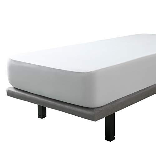 Tural – Protector de colchón y Sábana Bajera 2 en 1 Impermeable y Transpirable. Tejido 100% Algodón. Talla 90x200cm