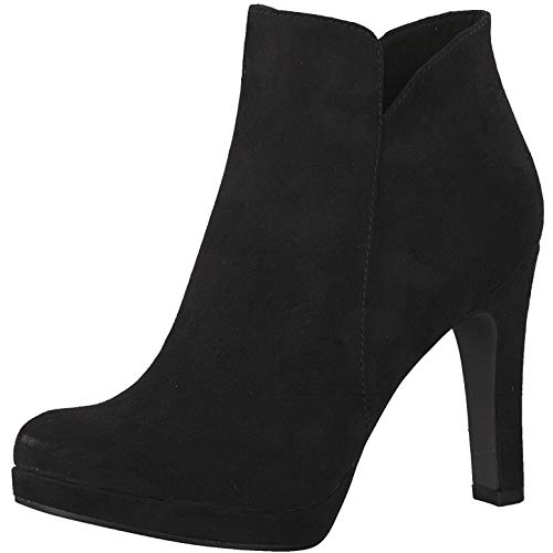 Tamaris 1-1-25316-22 Damen AnkleBoot,Stiefel,Halbstiefel,Bootie,hoher Absatz,sexy,feminin,Touch-IT,Black,41 EU