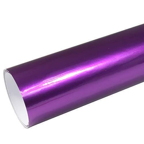 Rapid Teck® 8,55€/m² AutoFolie Serie z560 Candy Purple Explosion Hochglanz 1m x 1,52m Lila selbstklebende Premium Car Wrapping Glanz Folie mit Luftkanal