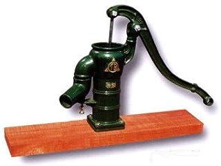 東邦工業手押しポンプ<ガチャポン>T35D 堀井戸用(台付きタイプ)、木玉ピストン方式、木台板タイプ