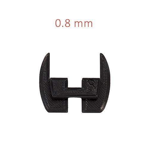 Flexibele stuurscharnierpakkingen, pads, anti-sliktrillingsdempers voor Xiaomi Mijia M365 / M187 elektrische scooter. 3D geprinte Flex rubber modificatie onderdelen