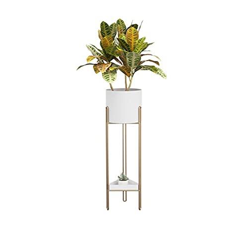 Lpgg-ZZ Soporte para Plantas de Metal, Soporte para macetas para Interiores y Exteriores, Soporte para exhibición de Plantas Elevado Adecuado para Porche de Esquina (Color : White)