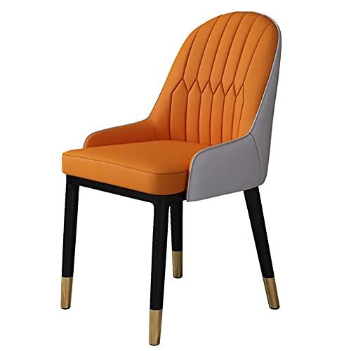 NZDY Silla de comedor, silla portátil italiana Lazy Computadora, mesa de comedor roja y silla simple para el hogar, pequeño apartamento, moderno (2 piezas, P), A, 6 piezas