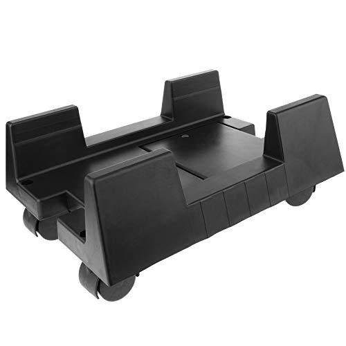 Cablematic BeMatik - Soporte para Ordenador PC con Ruedas de Color Negro