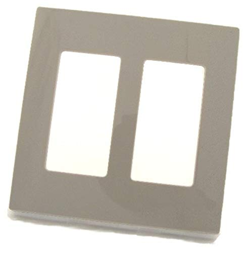 Leviton 80309-SGY 2-Gang Decora Plus Wallplate Screwless Snap-On Mount, Gray