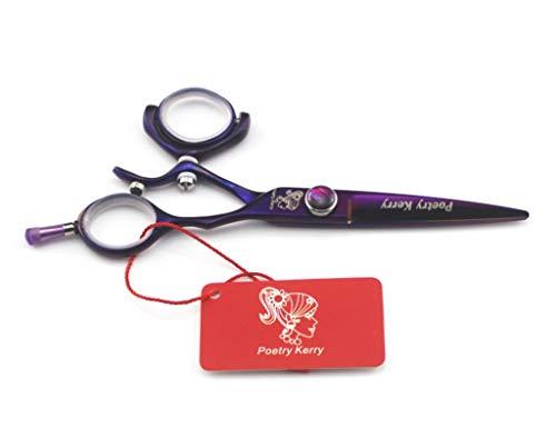 Aleación Durable 720 ° tijeras de peluquería japonesa de acero inoxidable for la Madre joven o tratamiento de la barba de los hombres de Peluquería Profesional Unisex Apto para todo tipo de cabello