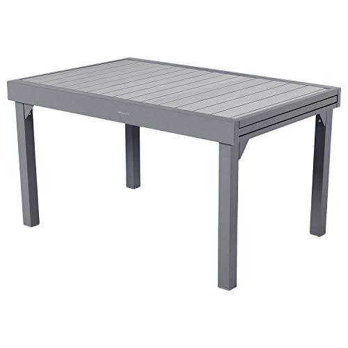 Hespéride Table rectangulaire Extensible Piazza 10 p. Basalte
