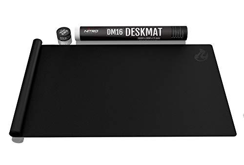 NITRO CONCEPTS DM16 Deskmat Schreibtischunterlage Mauspad - 1600x800mm - schwarz