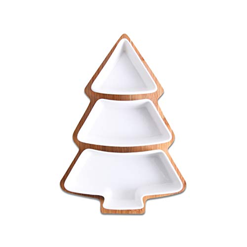 Tderloi Plato de Cena 28 cm Conjunto Completo de cerámica bambú árbol...