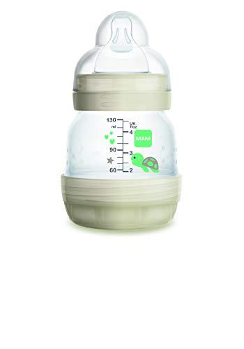 Mam Easy Start Biberon Anticolica Autosterilizzante con Tettarella Mis 0, 0+ mesi, 130 ml, beige