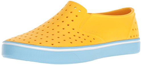 Native Shoes Women's Miles Water Shoe, Groovy Yellow/Sky Blue, 12