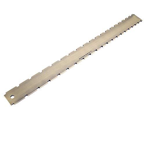 Dilwe Guitar Straight Edge-Werkzeug, Griffbrett-Griffbrett-Messwerkzeug 24.75 Gekerbte Straight Edge-Gitarrenbauer-Werkzeug für Gitarren Hals-Nivellierung