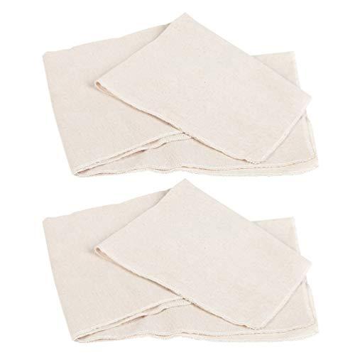 Hemoton 2 Stks Katoenen Bakdoek Brood Proofing Doek Non-Stick Katoenen Doek Voor Keuken Zelfgemaakte Bakken Fermentatie Baguette Broden Deeg (L Size)