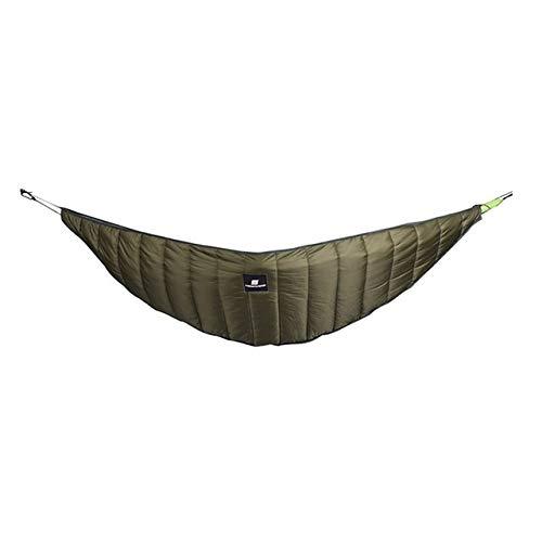 Bed HDS ABGZ-Camping en Plein air Chaud hamac hamac Underquilt Ultralight Tente d'hiver tiède sous Couverture Couette en Coton hamac (Color : Army Green)