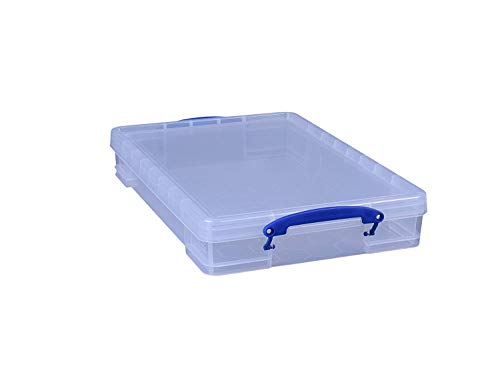 Really Useful Box 3 x 10 Liter - 520 x 340 x 85 mm - für A3 Papier - transparent