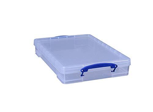 6 x Really Useful Box 10 Liter - 520 x 340 x 85 mm - für A3 Papier - transparent