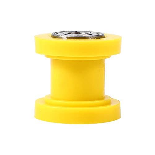 Rueda de guía del tensor deslizante del rodillo de cadena, ID de 8 mm Rueda de guía del tensor del rodillo de cadena Dirtbike chino Pit Bike(amarillo)