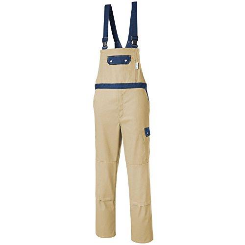 Pionier 2427-56 Stretch Latzhose Top Comfort Größe 56 in khaki/marineblau
