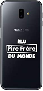 "ZOKKO Case for Samsung J6 Plus 2018 with""Pire Brother du Monde"" Design - Transparent - White Ink"