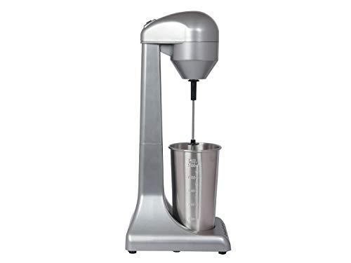 Beper Bp.690 Frullino per Frappè Caffè Freddo Milkshake e Cocktails, 2 Velocità, Contenitore in Alluminio 0.5 L, 100 W Argento