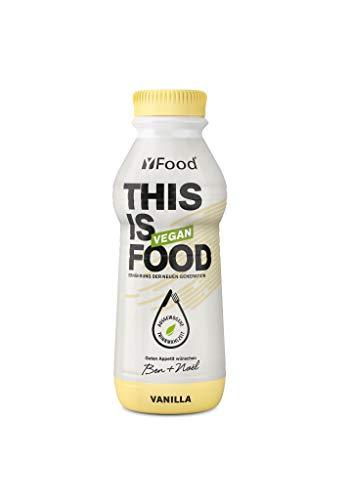 YFood Vegan Vanille | Laktose- & glutenfreier Nahrungsersatz | 26g Protein, 26 Vitamine & Mineralstoffe | Astronautennahrung - 25% des Kalorienbedarfs | Trinkmahlzeit, 6 x 500 ml | 1,50 € Pfand inkl.