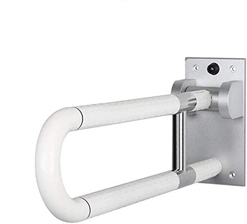Der Boden des Handlauf-Balustraden Bad groß gebogener Edelstahl Flip antimikrobielle Nylon Balustraden Bad Sicherheitsprodukte,White