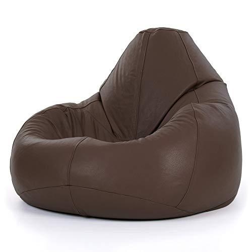 Echt Leder Sitzsack–XXL Giant Liege in Braun Leder–ICON Designer Sitzsäcke