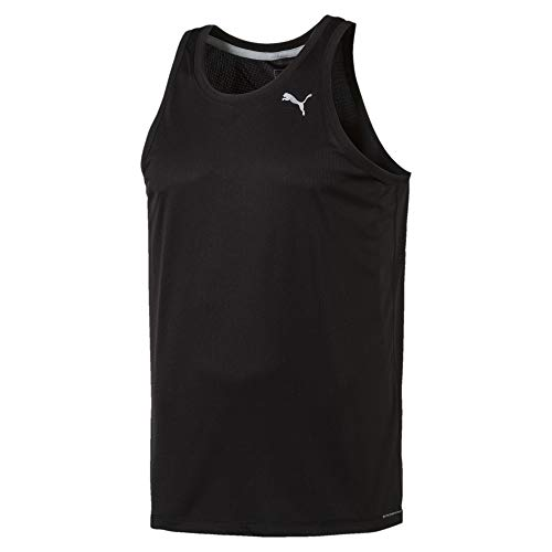 PUMA Core-Run Singlet, Top Uomo, Nero, L