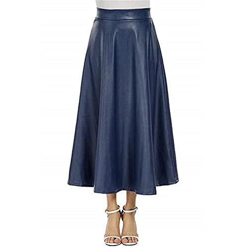 Falda larga del oscilación grande de la cremallera de la cintura alta de las, C, 36