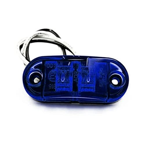 LKJHGFD RUNSHIBAIHUODIAN 10 unids Azul LED Luces Trailer Marcador Luces Luces de camión 24V 12V Marcador Lateral Trailer LED Lighting Lighting 24V LED Luces camión