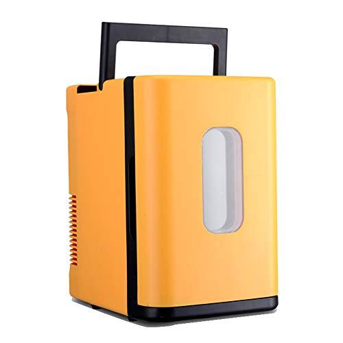 SNAWEN 10L-Auto-Kühlschrank, Automobil-Mini-Kühlschrank, Kühlschränke Gefrierfach Kühlkasten, Lebensmittelfruchtkühlschrankkompressor,Orange