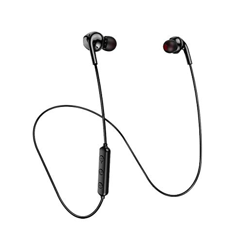 Abafia Auricolari Bluetooth, Cuffie Bluetooth 5.0 Sportive IPX7 Impermeabile, Cuffie per Sport Anti Rumore Stereo HiFi Durata Della Batteria 10H per Jogging Outdoor Ufficio (Nero)