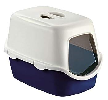 Kerbl Toilette pour Chats Cathy F 56x40x40 cm Bleu