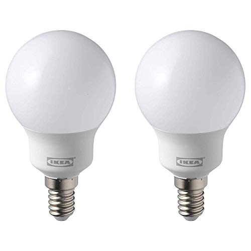 IKEA RYET LED-Leuchtmittel, E14, 600 Lumen, 5000 K, Tageslicht, 2 Stück