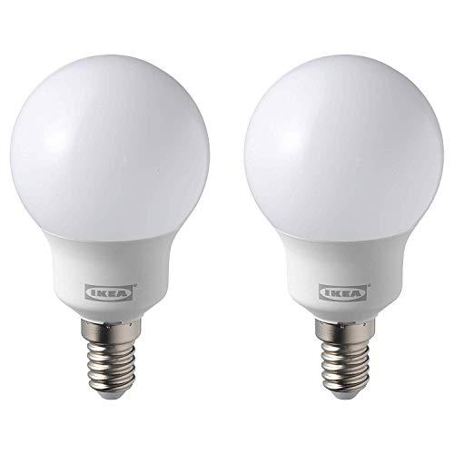 IKEA RYET E14 600 Lumen 5000K Daylight LED Bulbs - Set of 2
