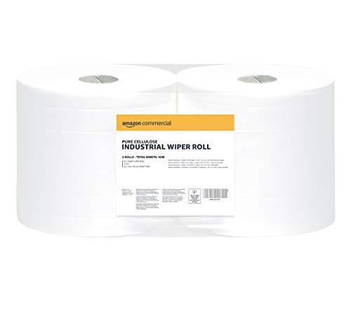 AmazonCommercial – Rollo de papel industrial de 2 capas, 2