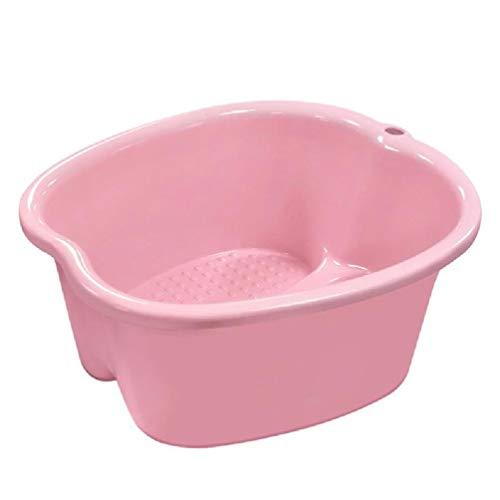xishan Cubo de Lavabo de bañera de hidromasaje para baño de pies Grande de plástico Lowral para remojar pies, desintoxicación, pedicura, Masaje, Bandeja de Comida portátil de 3 Colores