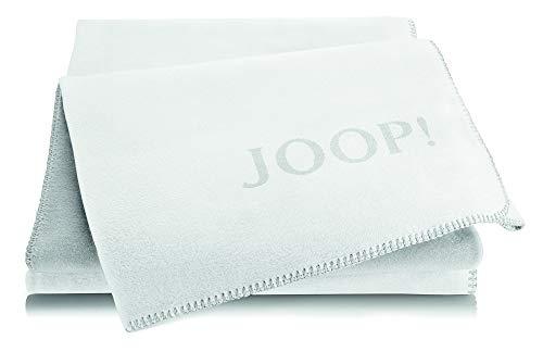 Joop!® Uni-Doubleface I flauschig-weiche Kuscheldecke Natur-Frost I Wohndecke aus Baumwolle & Dralon® in Natur I Tagesdecke 150x200cm   nachhaltig produziert in Deutschland I Öko-Tex Standard 100