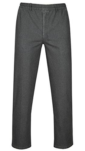T-MODE Herren Stretch-Thermo-Jeans Schlupfhose ohne Cargo-Taschen-Grau-XL