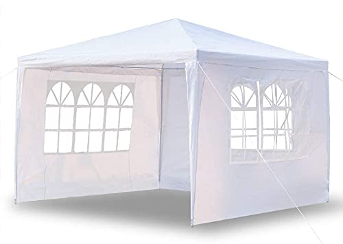 Maxx Marquee, 3 x 3 m, protezione UV50+, idrorepellente, 12 m², gazebo da giardino, gazebo o gazebo per feste, 3 pareti laterali arrotolabili, 3 finestre