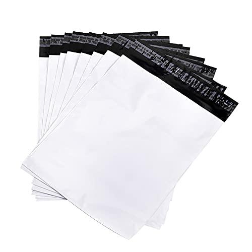 宅配ビニール袋 配送用 宅配袋 強力テープ付き 郵送 梱包 防水 白 薄手 軽量丈夫 透けない マチなし A4 A3 (28cm×35cm(+5cm):100枚)